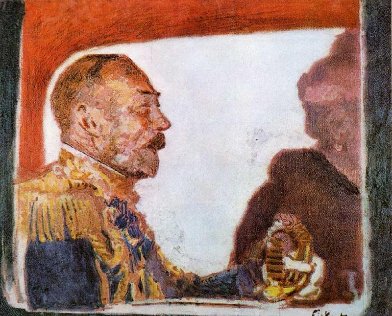 Walter Sickert King George V and Queen Mary France oil painting art