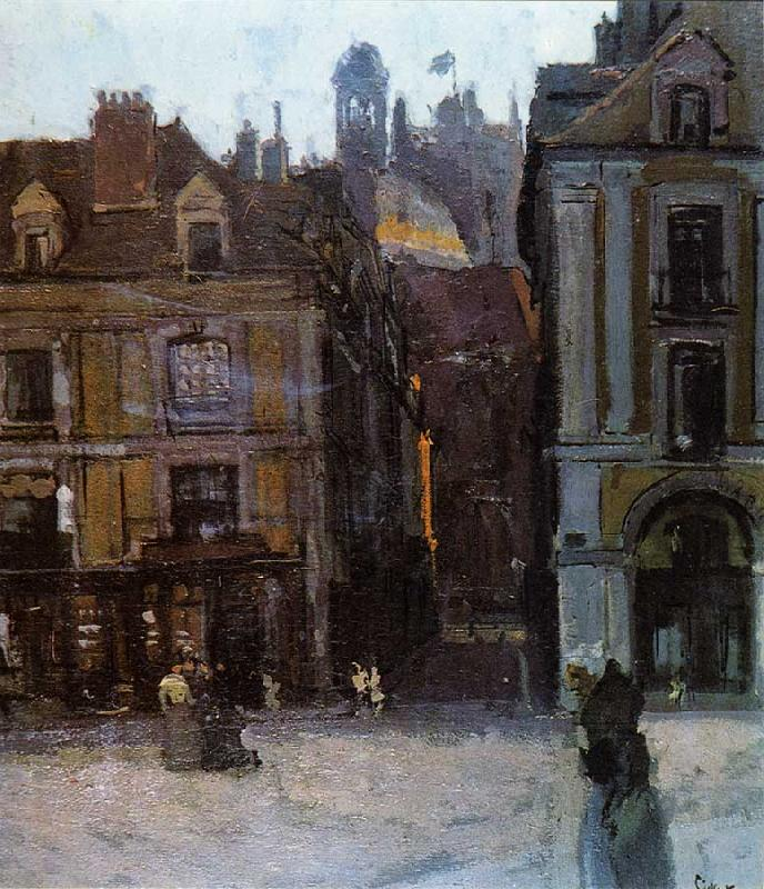 Walter Sickert The Quai Duquesne and the Rue Notre Dame, Dieppe France oil painting art