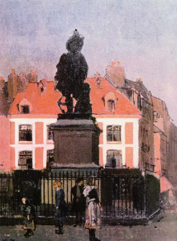 Walter Sickert The Statue of Duquesne, Dieppe France oil painting art