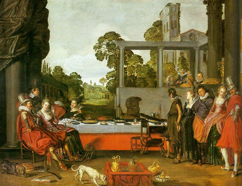 Willem Buytewech Merry Company in the Open Air oil painting image