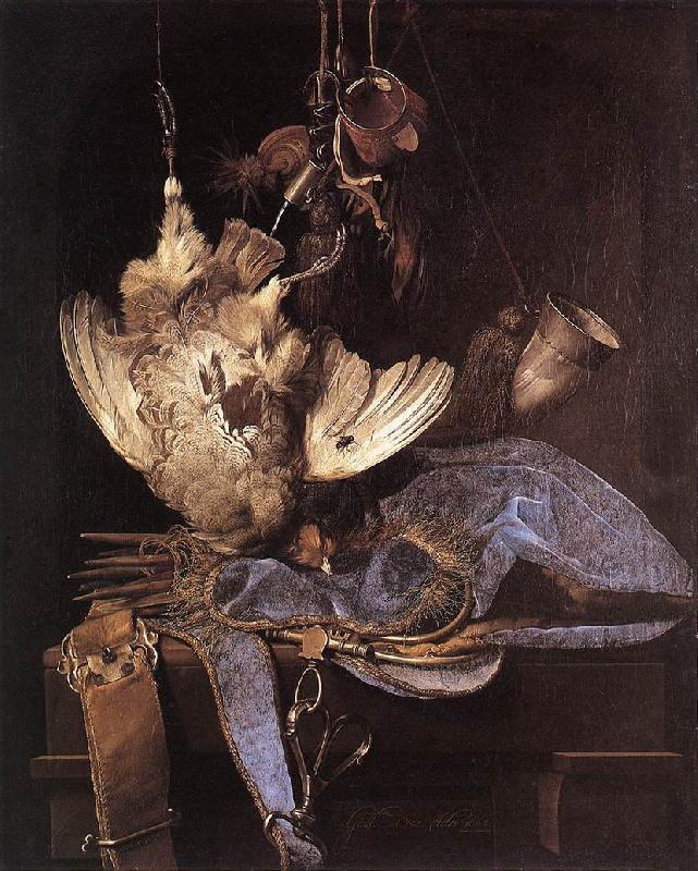 Willem van Still-Life with Hunting Equipment and Dead Birds France oil painting art