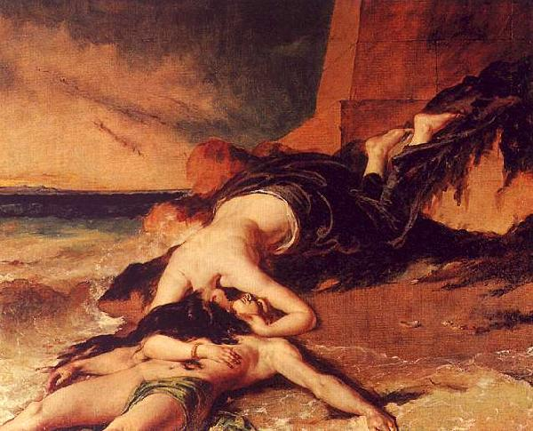 William Etty Hero and Leander 1 oil painting image
