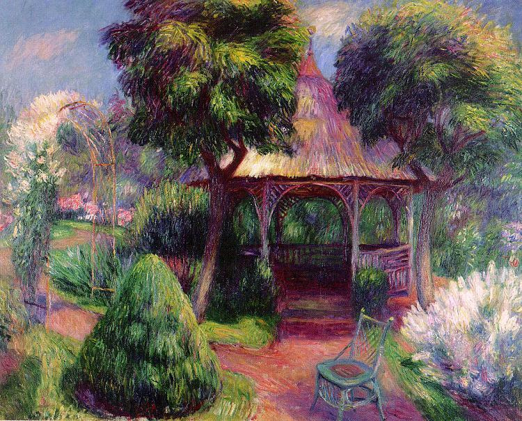 William Glackens Garden at Hartford France oil painting art