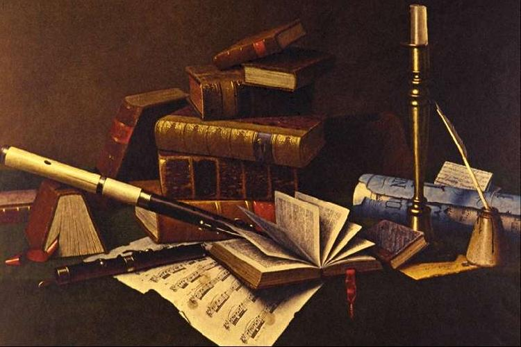 William Michael Harnett Music and Literature France oil painting art