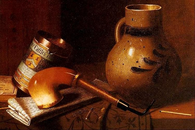 William Michael Harnett Still Life with Pipe and Tobacco France oil painting art