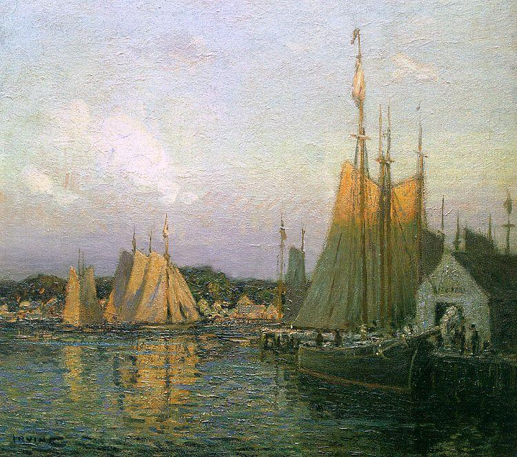 Wilson Irvine Evening in the Harbor France oil painting art