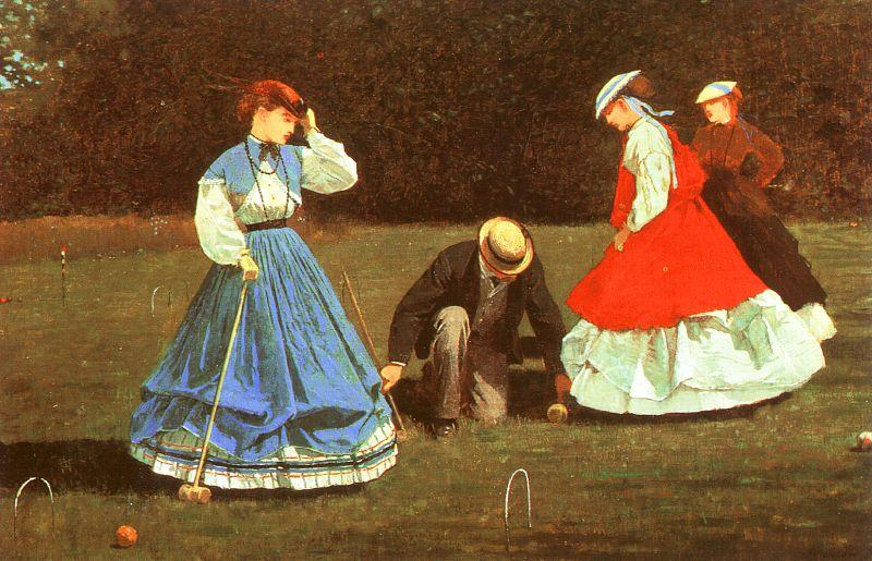 Winslow Homer The Croquet Game France oil painting art