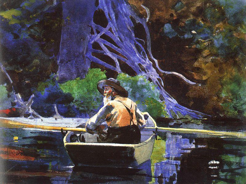 Winslow Homer The Andirondak Guide France oil painting art