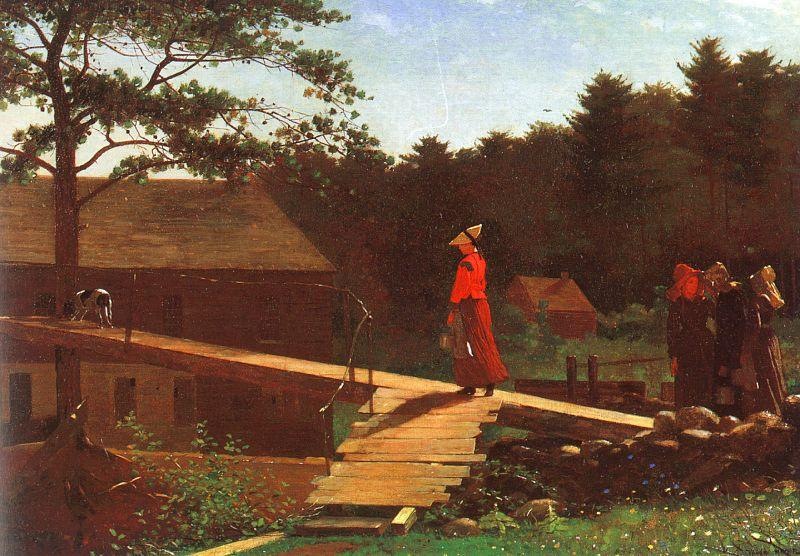 Winslow Homer The Morning Bell France oil painting art