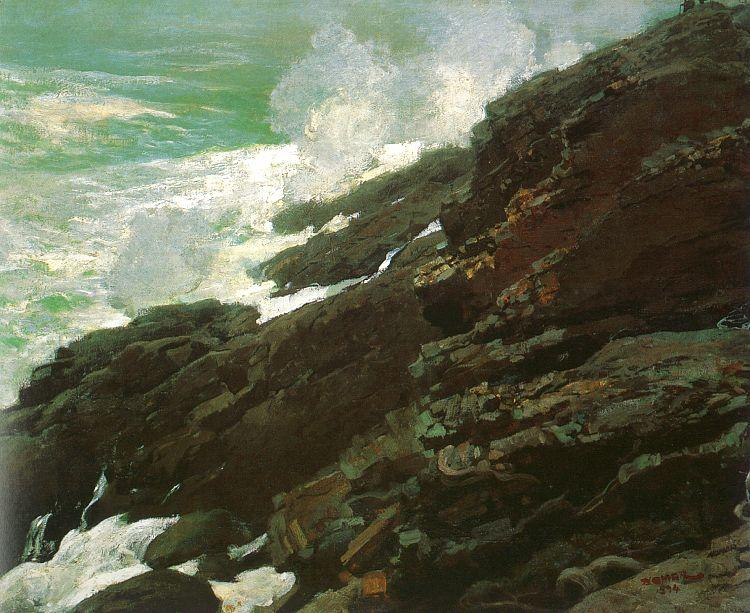 Winslow Homer High Cliff, Coast of Maine France oil painting art