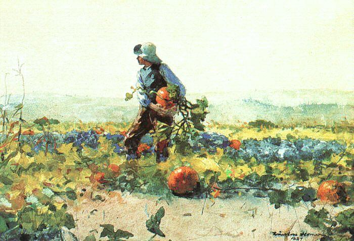 Winslow Homer For to be a Farmer's Boy France oil painting art