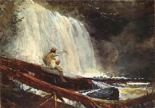 Winslow Homer Waterfalls in the Adirondacks France oil painting art