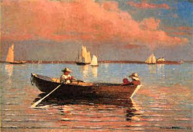 Winslow Homer Gloucester Harbor France oil painting art