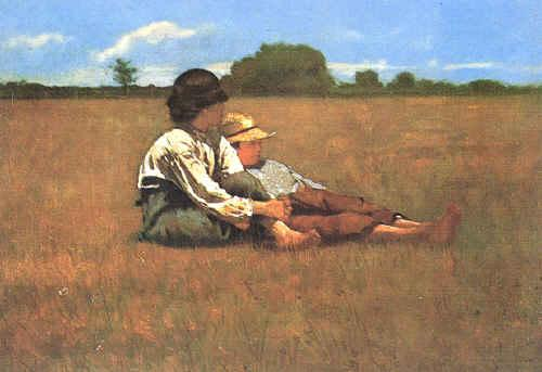 Winslow Homer Boys in a Pasture France oil painting art