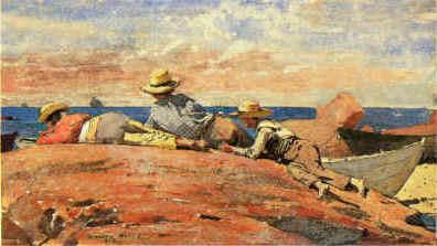 Winslow Homer Three Boys on the Shore France oil painting art