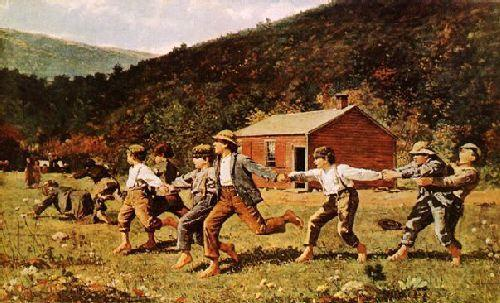 Winslow Homer Snap-the-Whip France oil painting art