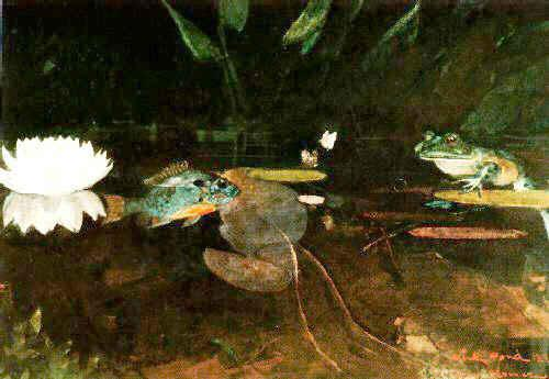 Winslow Homer The Mink Pond France oil painting art