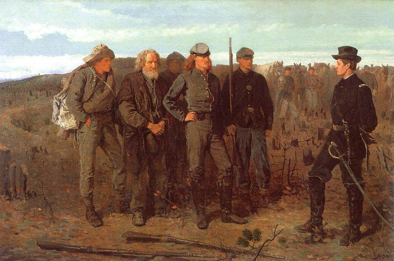 Winslow Homer Prisoners From the Front France oil painting art
