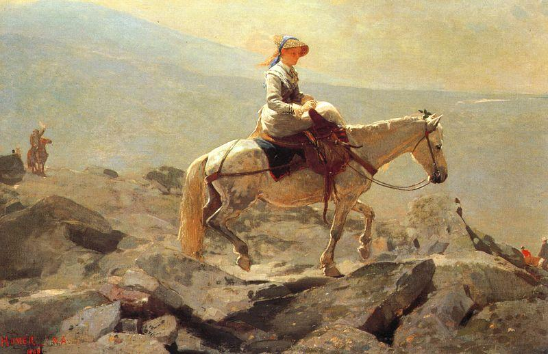 Winslow Homer Bridle Path, White Mountains France oil painting art