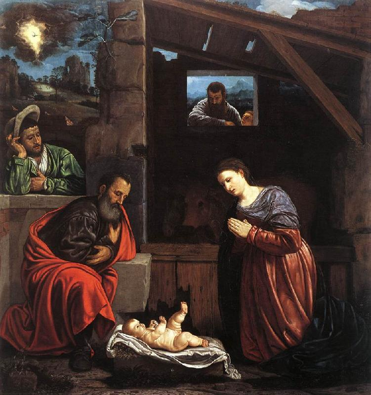 SAVOLDO, Giovanni Girolamo Adoration of the Shepherds sw oil painting image