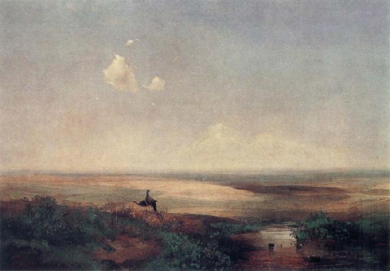 A.K.Cabpacob The Plain in the daytime oil painting picture