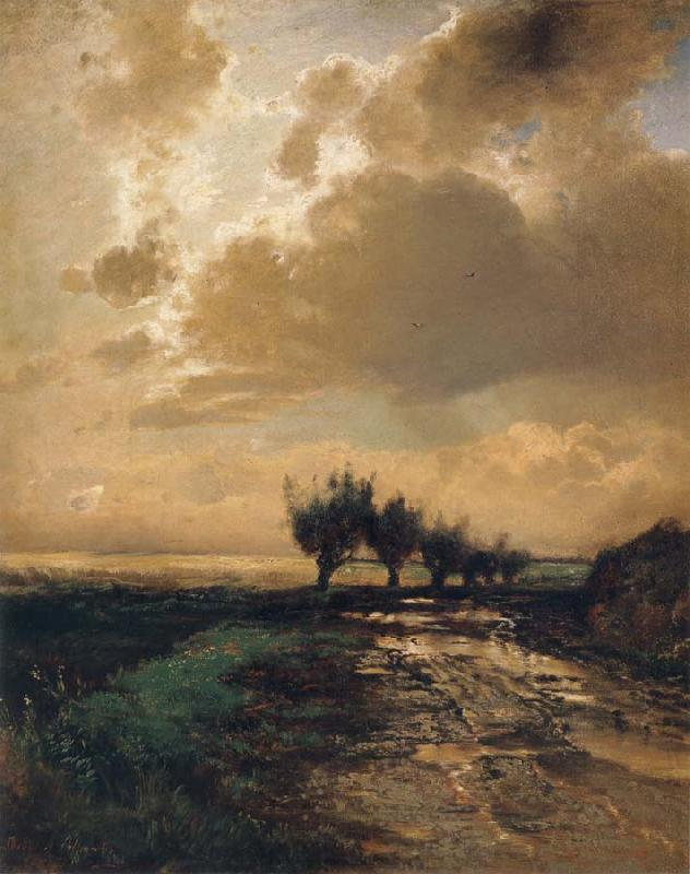 A.K.Cabpacob Landscape oil painting picture