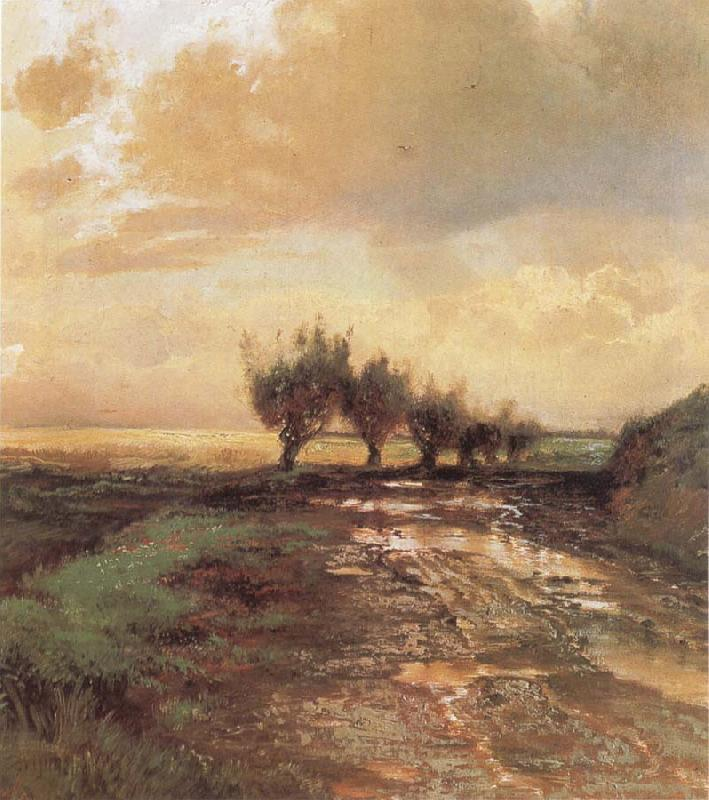 Alexei Savrasov A Country Road oil painting picture
