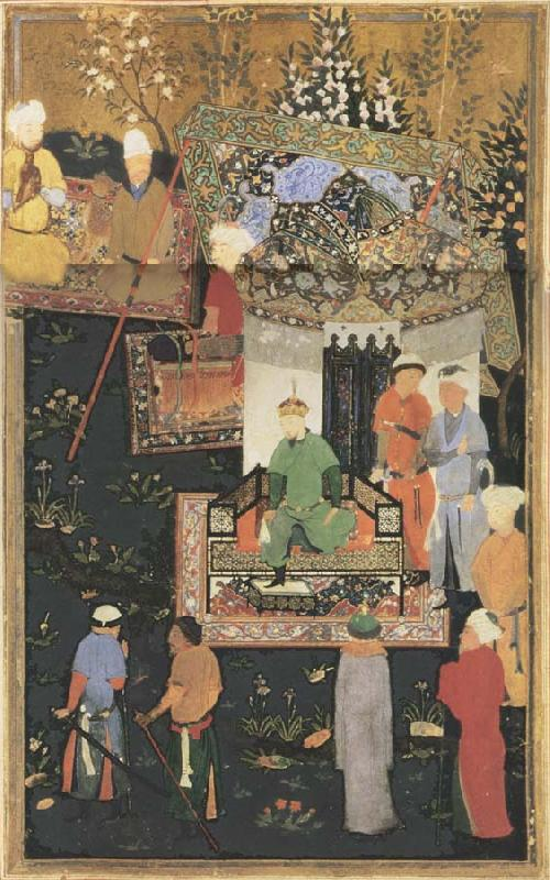 Bihzad Timur enthroned oil painting image