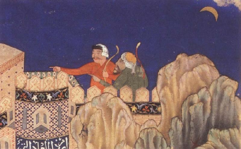 Bihzad The Crescent moon turned downwards oil painting image