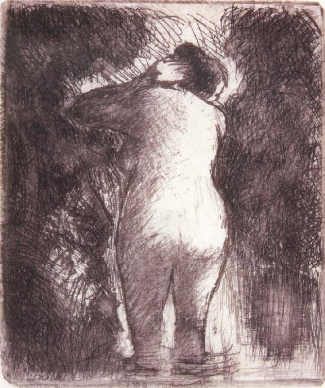 Camille Pissarro Back view of bather oil painting picture