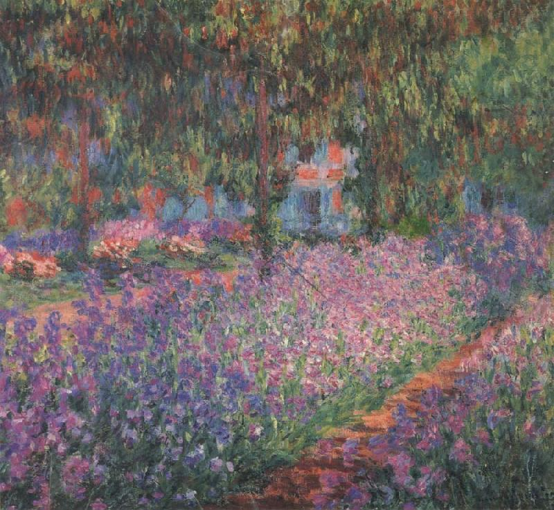 Claude Monet The Artist's Garden at Giverny oil painting picture