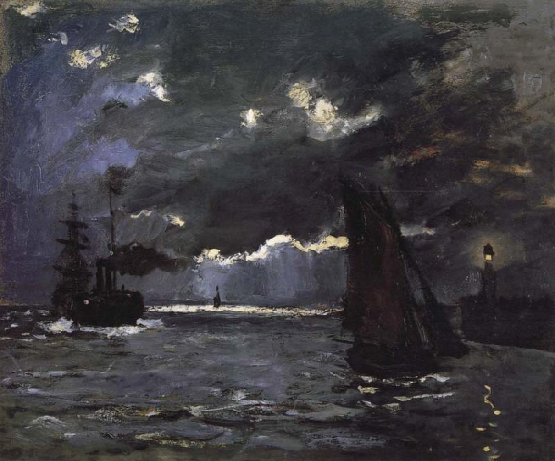 Claude Monet Seascape,Night Effect oil painting picture