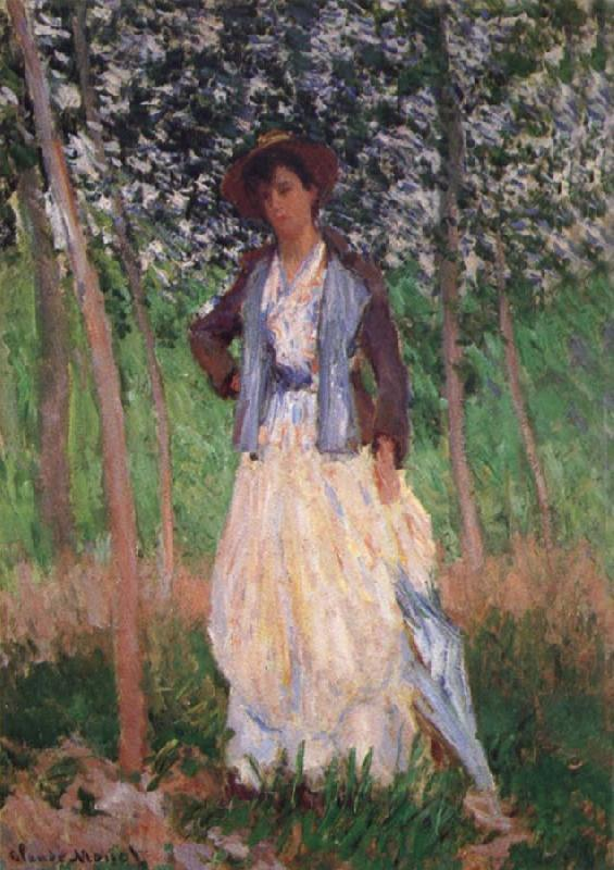 Claude Monet Taking a Walk oil painting picture