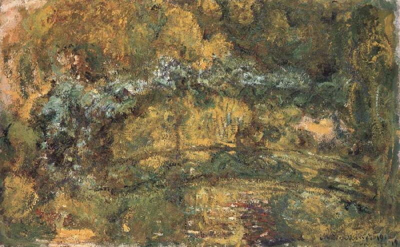 Claude Monet The Foothridge over the Water-Lily Pond oil painting picture