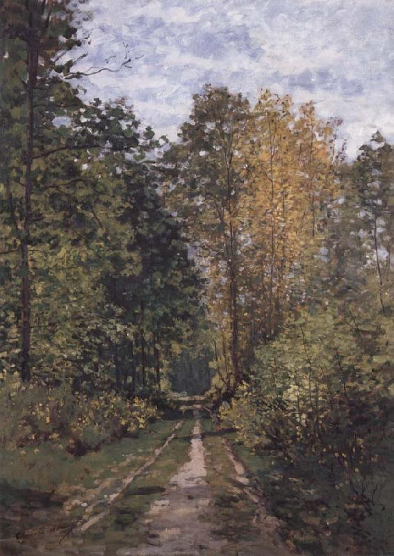 Claude Monet Path in the Forest oil painting picture