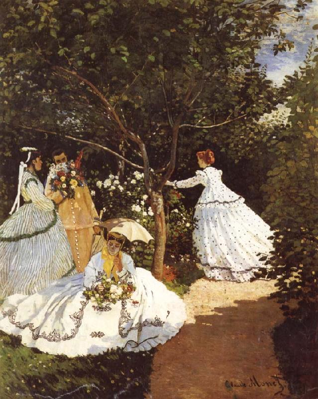 Claude Monet Femmes au jardin Women in the Garden Frauen im Gaten oil painting picture
