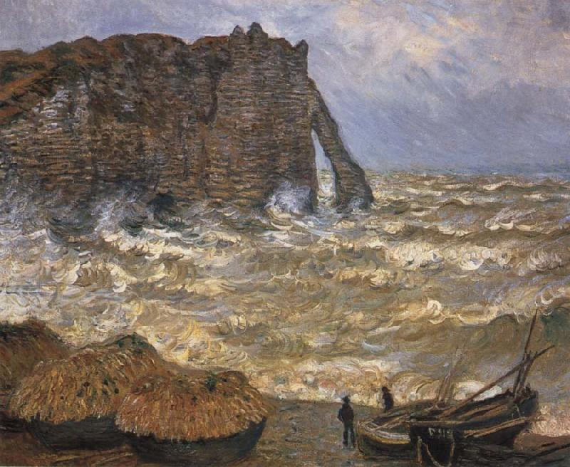 Claude Monet The Cliff at Etretat after a Storm oil painting picture