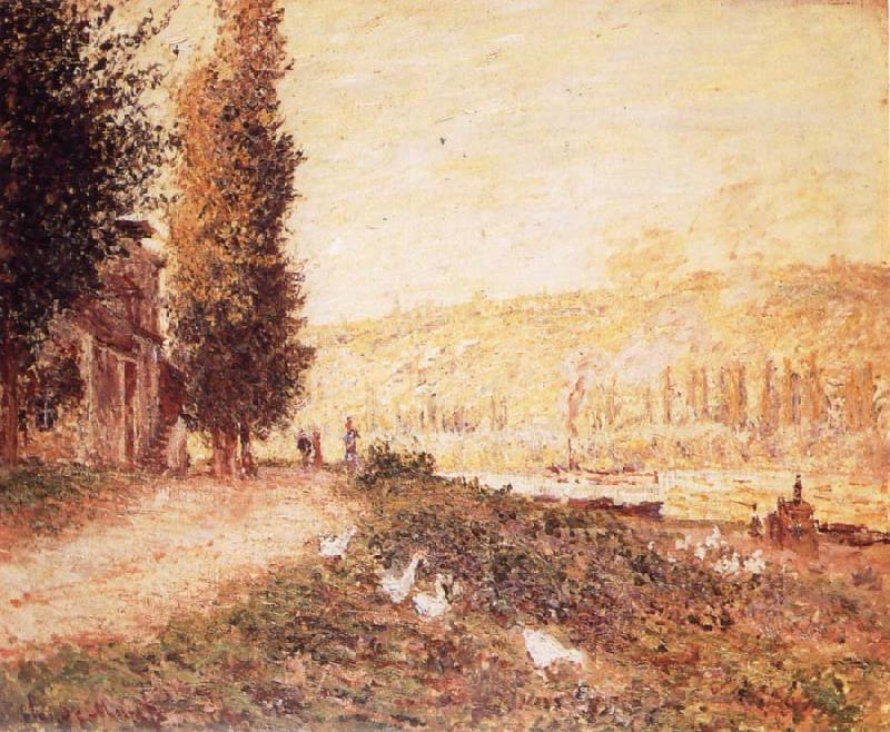 Claude Monet Banks of the Seine at Lavacourt oil painting picture
