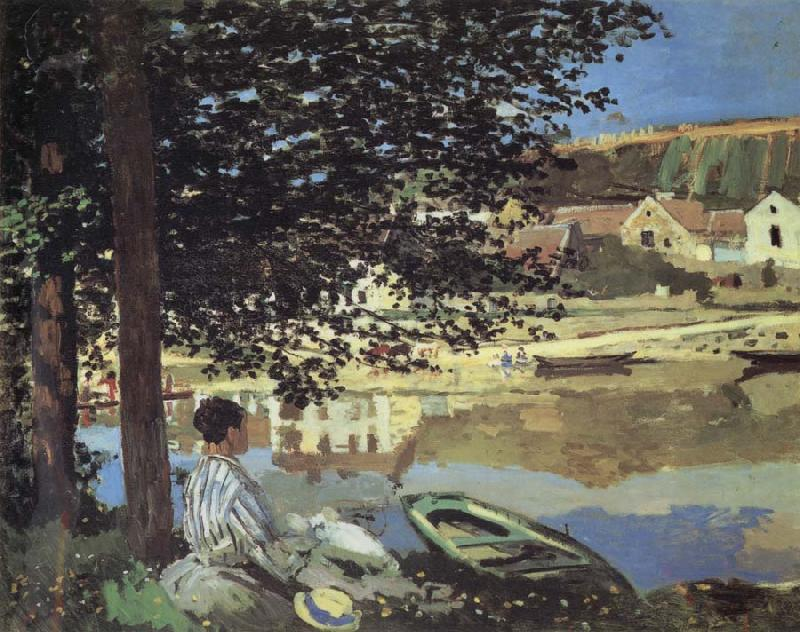 Claude Monet Au Bord de l-Eau,Bennecourt oil painting picture
