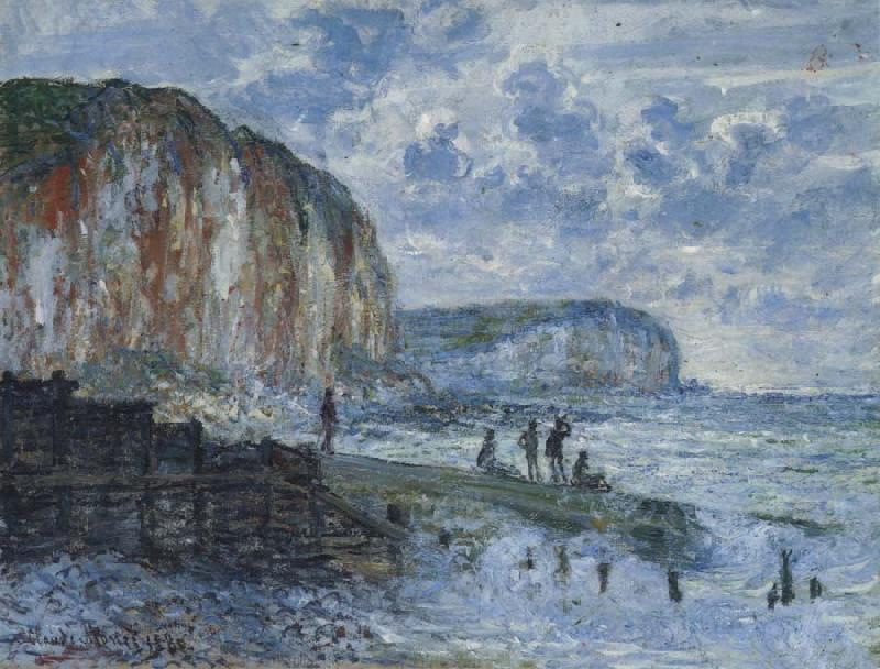Claude Monet The Cliffs of Les Petites-Dalles oil painting picture