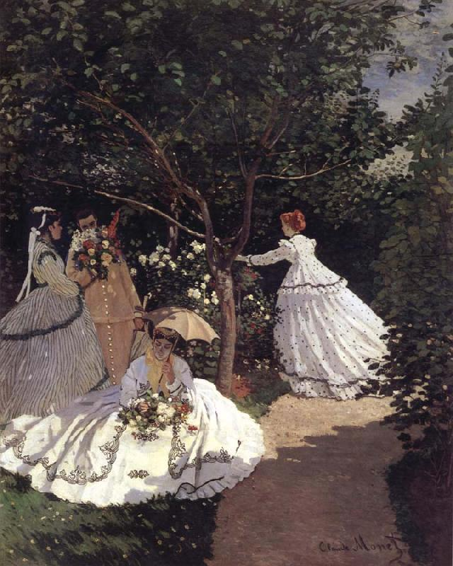 Claude Monet Femmes an Fardin oil painting picture