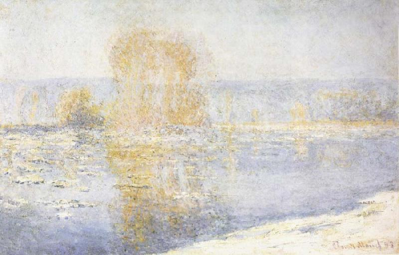 Claude Monet Floating Ice at Bennecourt oil painting picture