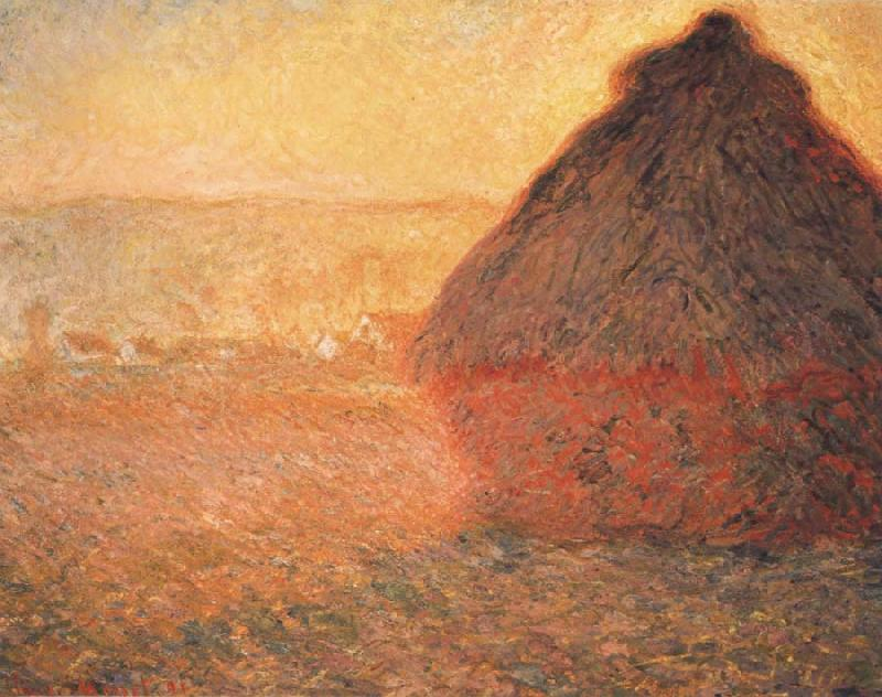 Claude Monet Meule,Soleil coucbant oil painting picture