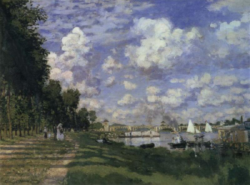 Claude Monet The Marina at Argenteuil oil painting picture