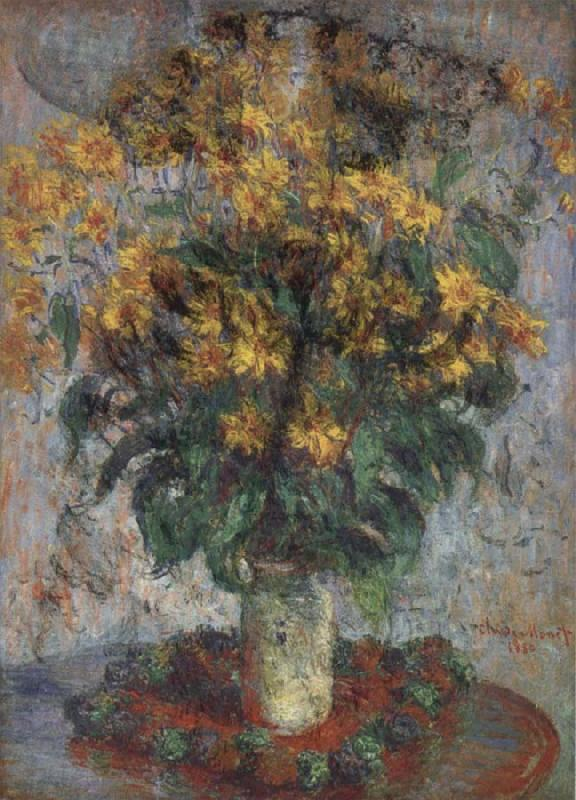 Claude Monet Jerusalem Artichoke Flowers oil painting picture
