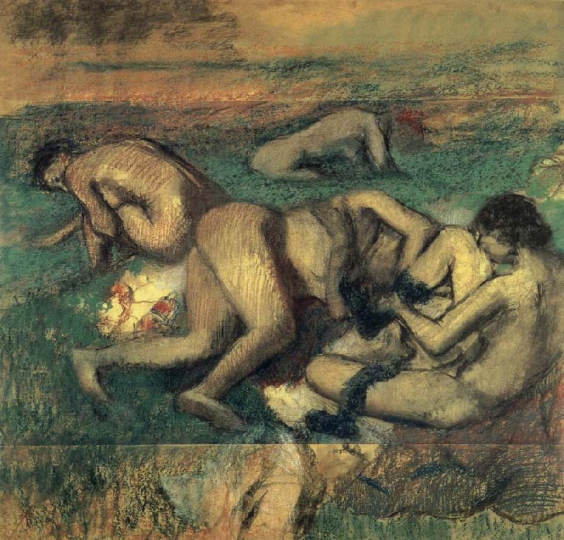 Edgar Degas Baigneuses oil painting picture