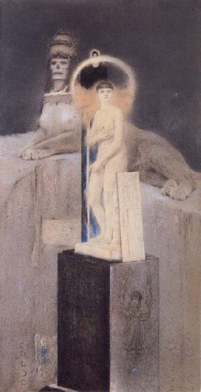 Fernand Khnopff Afier Josephin Peladan Le Vice supreme oil painting picture