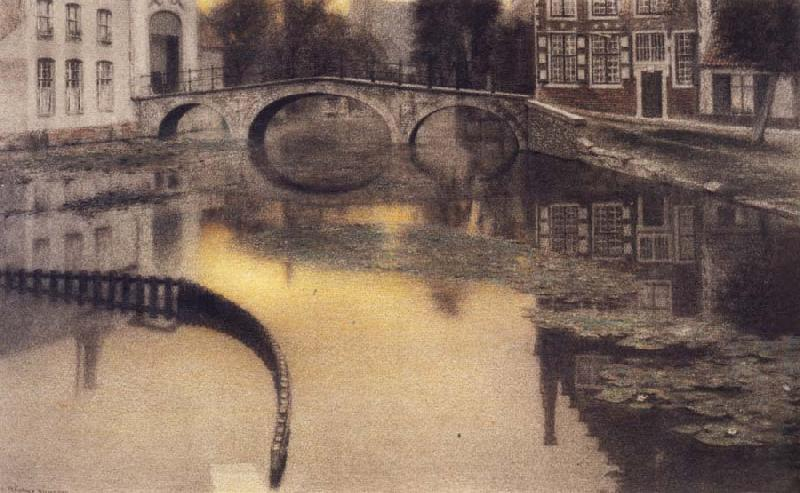 Fernand Khnopff Memory of Bruges,The Entrance of the Beguinage oil painting picture