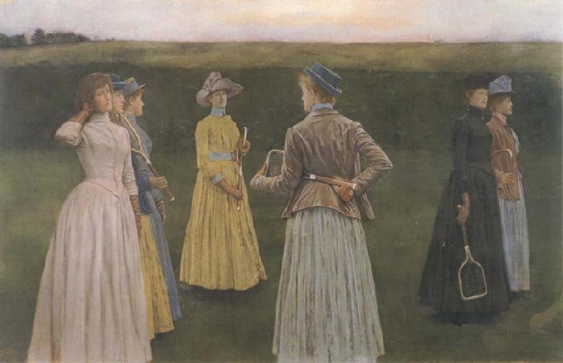 Fernand Khnopff memories Lawn Tennis oil painting picture