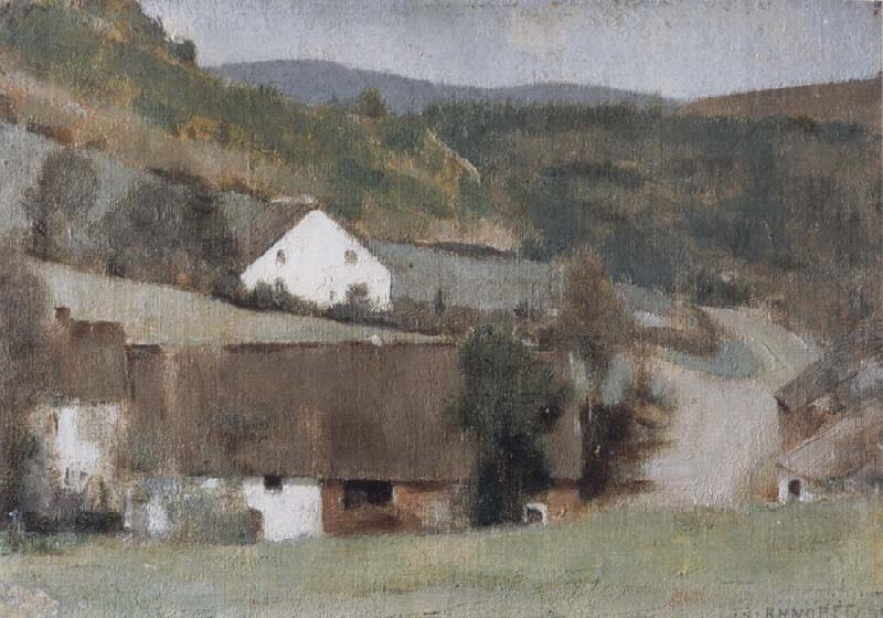 Fernand Khnopff In Fosset The Hamlet oil painting picture